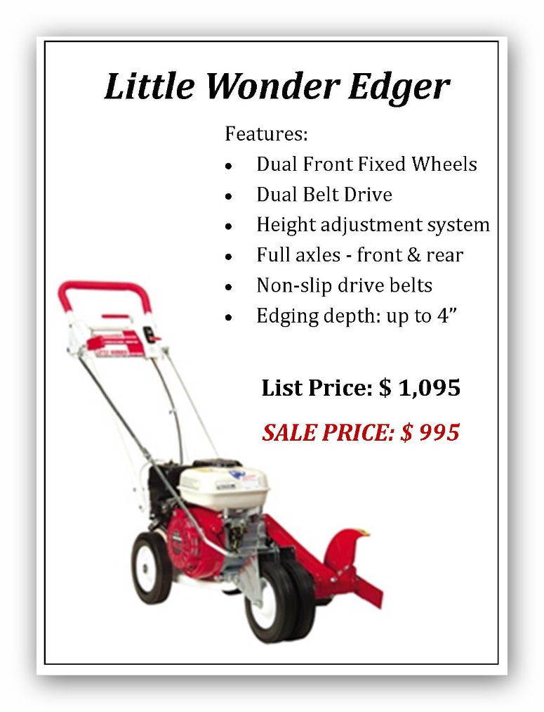 Little Wonder Edger Main - 2018