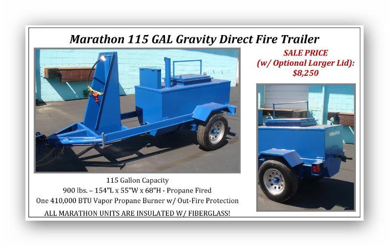 Marathon 115 Gallon Gravity Direct Fire Trailer